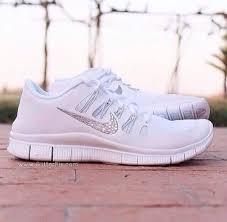nike shoes white for girls. shoes: white nike running free run runs sparkles glitter pretty shoes for girls h