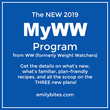 Weight Watchers Chart Of Food Points New 2019 Weight Watchers Myww Program Emily Bites