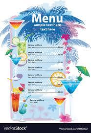 Menu Templates Design Template Designs Of Cocktail Menu Royalty Free Vector Image