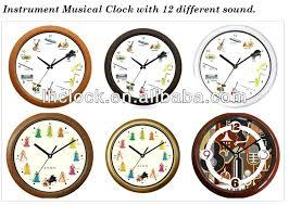 bird sound wall clock bird wall clock british bird sound wall clock