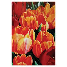metal art studio tulip bonanza 22 inch x 32 inch metal wall art on jewelled metal tulip wall art with buy orange red wall art from bed bath beyond