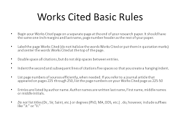 How To List Works Cited Mla Works Cited Critical Essay
