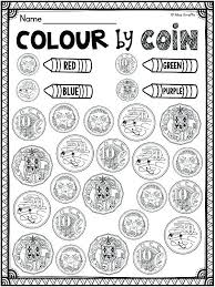 Money Coloring Worksheets Counting Money Coloring Pages Money