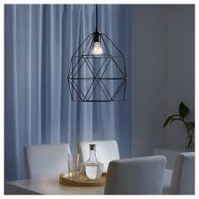 brunsta pendant lamp shade black  cm  ikea