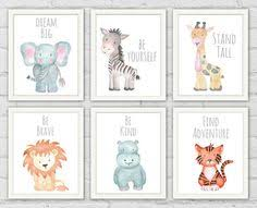 >safari nursery decor nursery wall art elephant decor baby animal  safari nursery prints baby shower gifts set of 6 safari animal prints nursery wall art elephant picture baby animals nursery safari theme prints