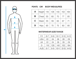 junior size size charts