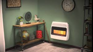Gas Wall Heater Installation Dyna Glo 30000 Btu Infrared Vent Free Wall Heater Youtube