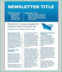 Newsletter Free Templates Editable Newsletter Template Free School Newsletter Templates Free