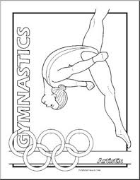 Interested in gymnastics coloring pages? Coloring Page Summer Olympics Gymnastics Artistic Abcteach