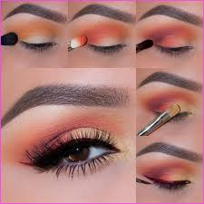 you will need following eye shades to do french marigold photo eye makeup