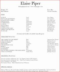 Acting Resume Template Word Best 32 Best Actor Resume Template