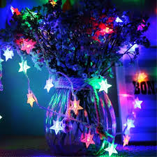 timewanderer 5m 16 4ft 50 colorful star led string fairy light aa battery operated bright decorative led lights on clear wire for home diy on on