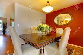 Small Elegant Dining Corner Room With A Beautiful Dining Table