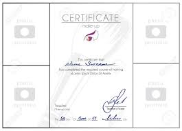 Make Up Course Completed Certificate Template Makeup Artist