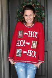 DIY Easy Ugly Christmas Sweaters  TOGETHER Sweater  8th Day Of Ugly Christmas Sweater Craft Ideas