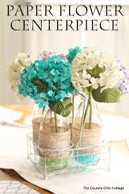 Paper Flower Wedding Centerpieces Paper Flower Centerpiece The Country Chic Cottage