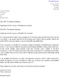 care of letter health care assistant cover letter example icover org uk