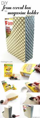 Magazine Holder From Cereal Box Cereal Box Crafts DIY Projects Craft Ideas How To's for Home 43