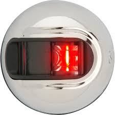 Attwood Deck Mount Navigation Lights Attwood Lightarmor Vertical Surface Mount Navigation Light Port Red Stainless Steel 2nm