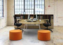 Two person office layout Arrangement Bright Home Office Design For Two By Charlie Barnett Associates Lushome 20 Space Saving Office Designs With Functional Work Zones For Two