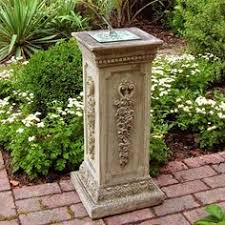 garden pillars. Delighful Garden Garden Pillar With Sundial Intended Pillars R