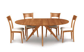 dining table with erfly leaf extension memorable catalina round in cherry wood copeland furniture home interior