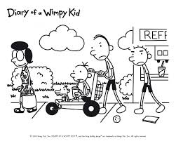 Diary Of A Wimpy Kid Coloring Pages To Print Coloring Home