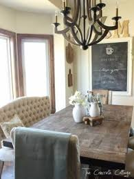 rustic dining room lighting. dining room restyle tufted bench parsons chairs rustic table wood chandelier and a chalkboard lighting