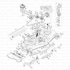 42 cub cadet mower deck parts diagram dzmm