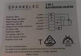 1 bathroom heat light exhaust fan