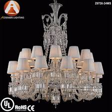 china 24 light baccarat crystal chandelier for hotel project interior decoration china chandelier lighting