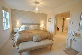 white bedroom with gold accent wall - Google Search - Google Search ...