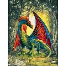 Riolis Cross Stitch Forest Dragon