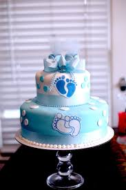 Hectors Custom Cakes Boy Baby Shower Cake 2 Tiered Stacked Layered