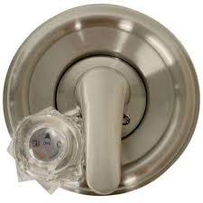 single handle valve trim kit for delta tub shower in brushed nickel valve