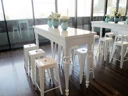 white luxe tapas tables