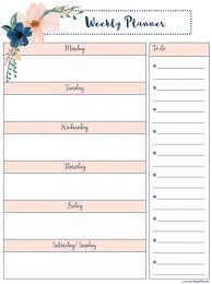 Free Printable Weekly Planner Our Class Nation