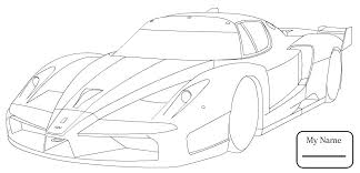Ferrari Coloring Pages To Print Printable Car Reynaudowin