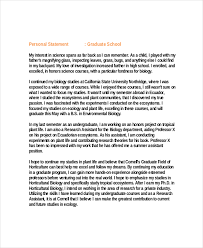 Personal Statement Grad School Samples Personal Statement Graduate School Template Business