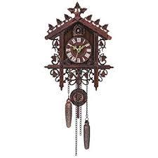 Decdeal 1 Pcs <b>Retro</b> Vintage <b>Wood</b> Cuckoo <b>Wall Clock</b>: Amazon.in ...
