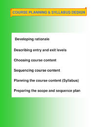 Course Planning And Syllabus Design Ppt Course Planning Syllabus Design Powerpoint