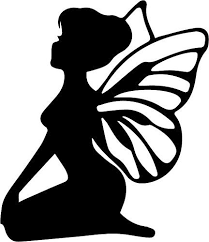 Silhouette Patterns Beauteous Free Silhouette Patterns Fairy With Wings The Craft Chop Dys Ideas