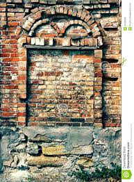 Crumbling Brick Wall With Arch Stock Photo Image 33182682