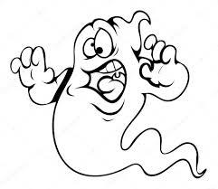 Caricature De Peur Fant Me Illustration Vectorielle Halloween