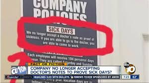 Fact Or Fiction Company No Longer Accepting Doctors Notes