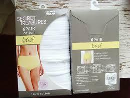 New Secret Treasures Womens Briefs 6 Pair All White Cotton Size 6 7 8 9 Soft Nip Ebay