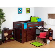 canwood whistler storage loft bed with desk bundle cherry 499