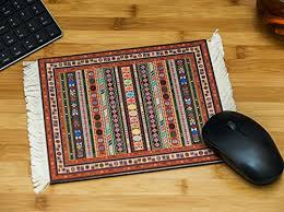size 9 5 x7 5 x0 5 thick rectangle white fringes on each end of the mousemat persian rug carpet mouse pad