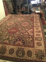 sino persian tabriz hand knotted wool rug 8 x 10