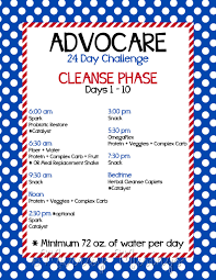 Advocare Cleanse Chart Pin By Megan Horton On 24 Day Challenge Advocare Diet